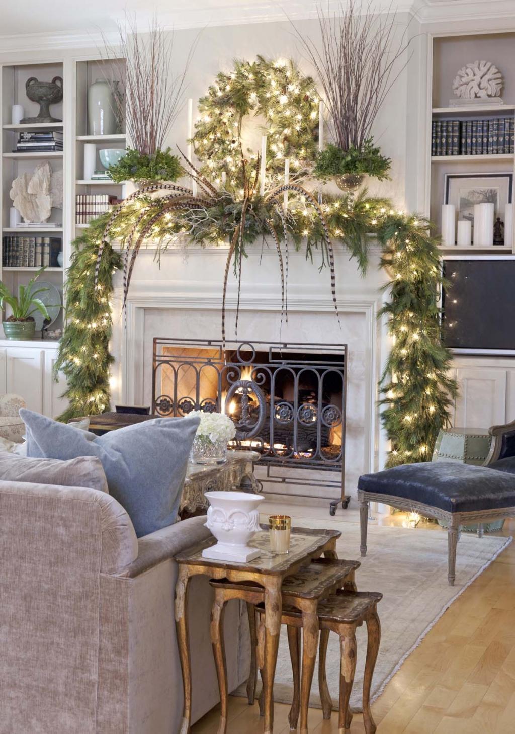 Transformez un manteau de cheminée en féerie de Noël! Le Top 20 ...