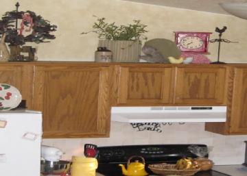 3 jours et 300$, c'est tout ce qu'il fallait à cette décoratrice du dimanche pour faire des merveilles avec cette cuisine démodée