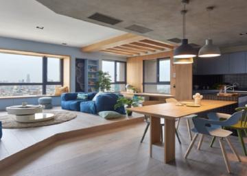 Ce couple de Taiwan voulait une maison moderne qui ne ressemblerait pas à un musée... Leur méga loft est le rêve de toutes les jeunes familles