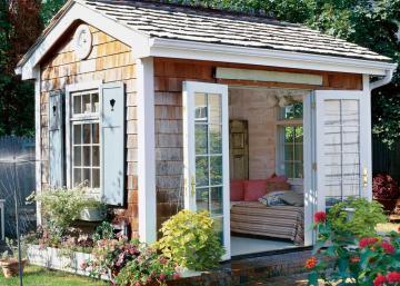 """Aimeriez-vous avoir un """"she shed""""? Laissez-nous vous tenter avec ces 12 photos!"""