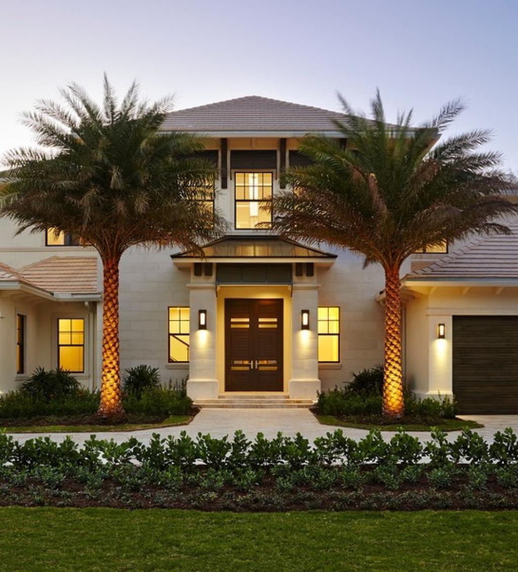 Good la maison style californien cuest plus que magnifique cette maison avec les deux palmiers comme a luentre wow vous en pensez quoi with modeles maisons