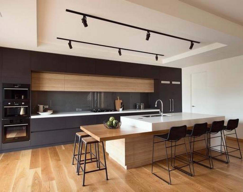 cette cuisine est des plus magnifique jadore le fait que le comptoir soit fait en 2 parties et le mlange des matires et des couleurs dans cette pice