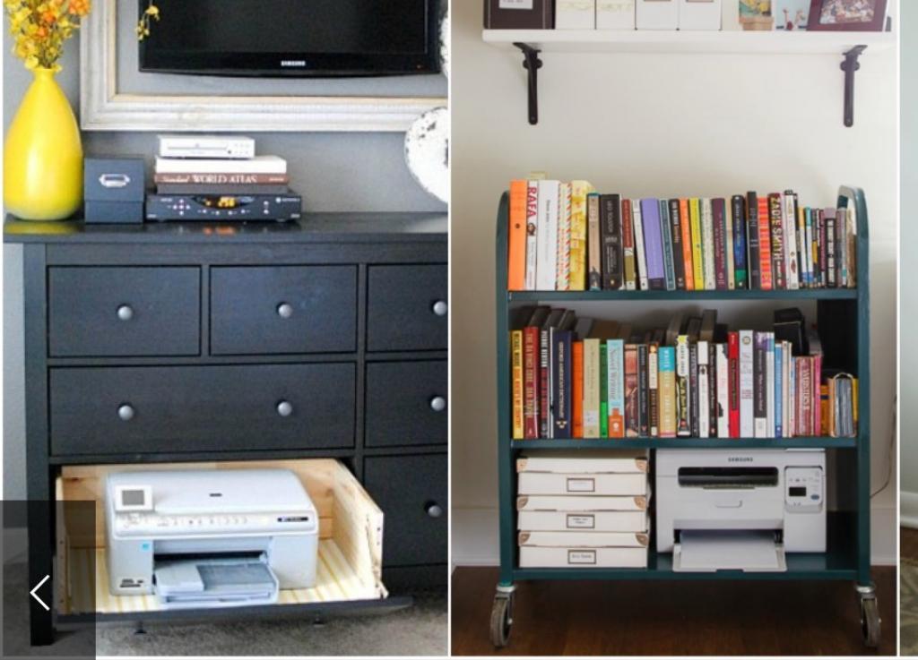 Fabuleux 9 idées géniales pour cacher votre imprimante! - Les Maisons KK42