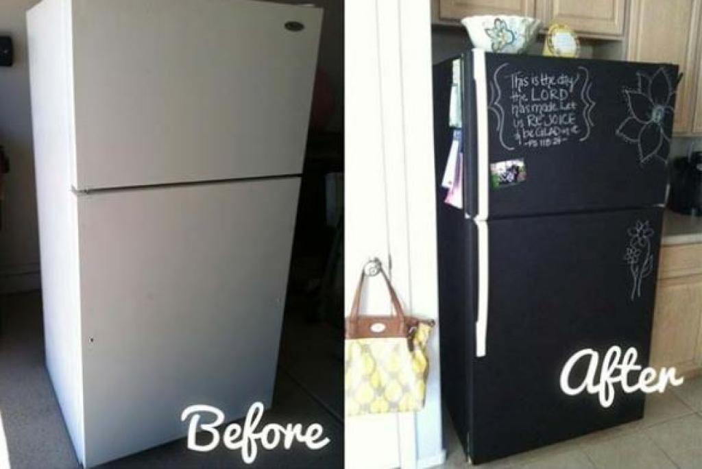 Super Votre vieux frigo jure avec le reste du décor? Ces bricoleuses  SC12