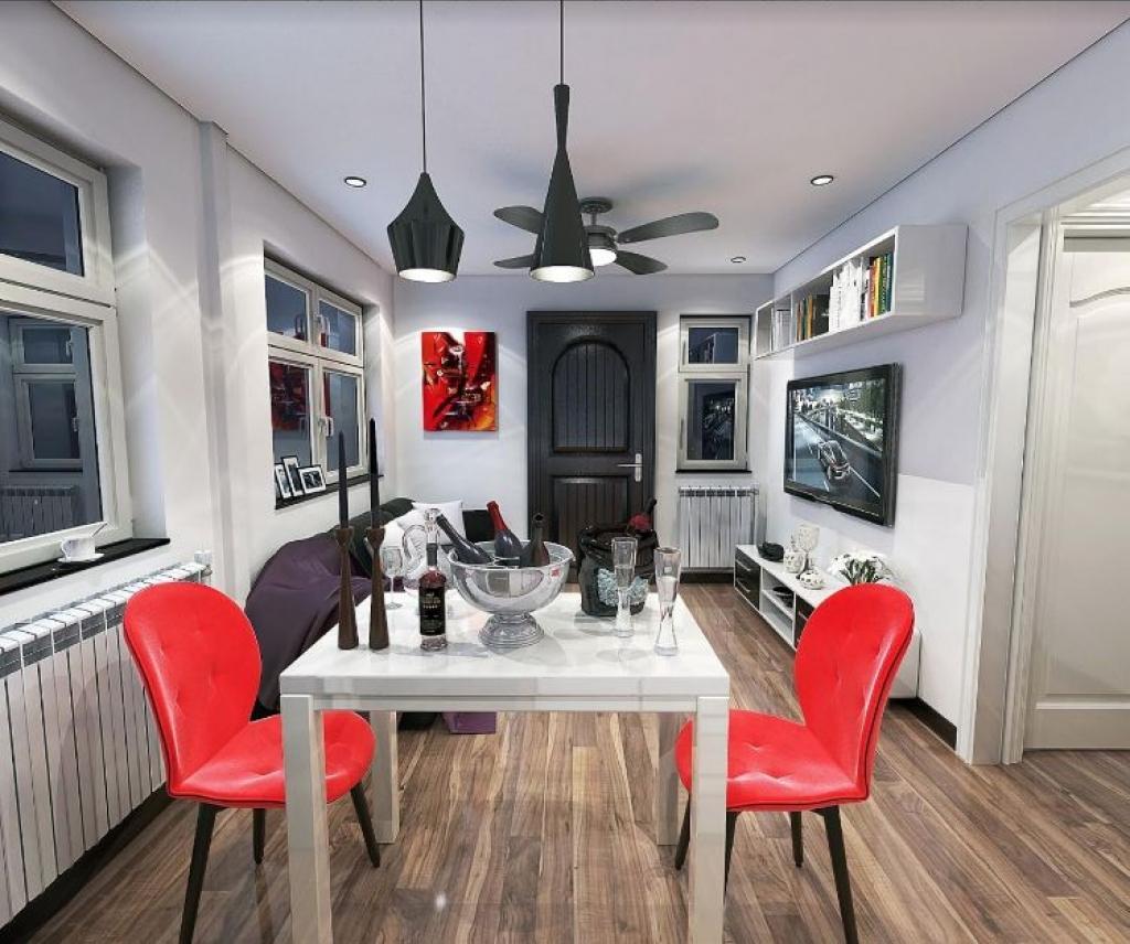 La compagnie peut répondre à toutes vos demandes ou presque voici la salle à manger ouverte sur le salon et la cuisine cest moderne nest ce pas