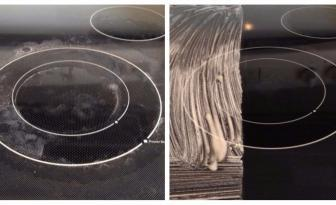 En utilisant ces 3 ingrédients, votre plaque de cuisson en vitrocéramique sera comme neuve!