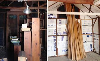 Elle transforme le vieux garage de sa grand-mère en cocon douillet pour 2 000 $!