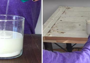 Elle ajoute 2 ingrédients dans sa peinture pour la transformer en «peinture de craie»!