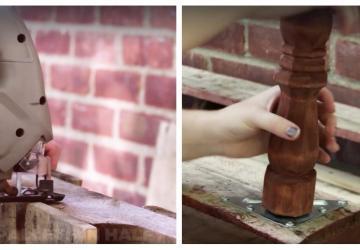 Il étonne son épouse en construisant des bancs pratiques avec 2 palettes de bois ramassées aux poubelles!