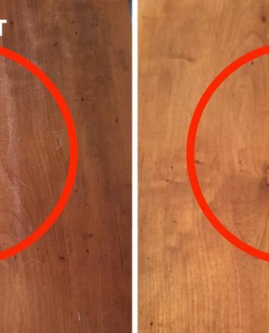 Ça ne prend que 15 minutes pour faire complètement disparaître les marques sur une table en bois. Promis!