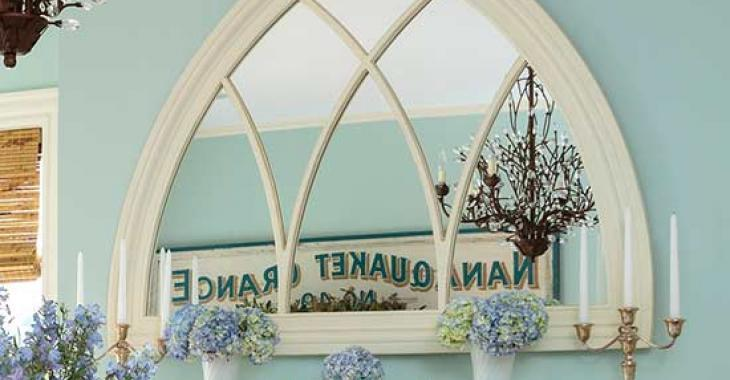 Aimez-vous la récupération? C'est fou ce qu'on peut faire avec des vieilles fenêtres et miroirs!