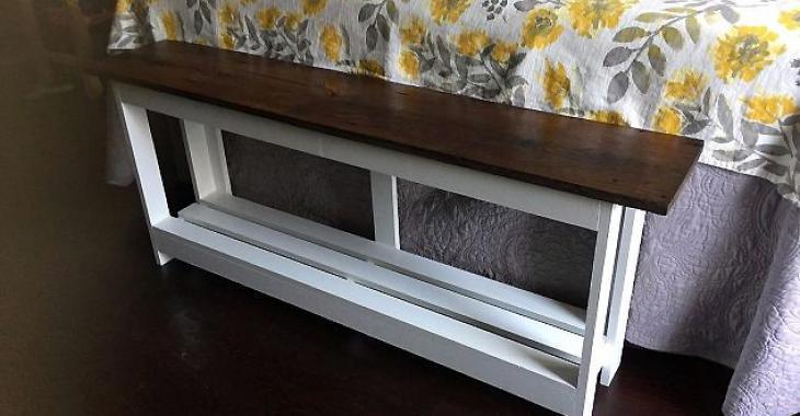 Elle voulait un banc de lit: quand elle a vu ce que son mari a fait, elle était fière de lui!