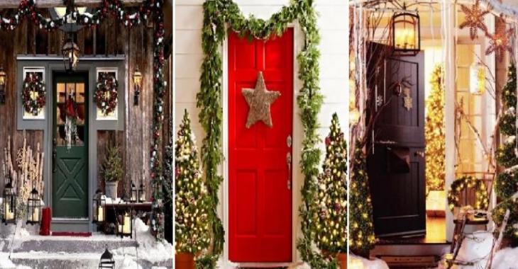 Transformez votre devanture de maison en carte de Noël: 25 idées de décor emballantes