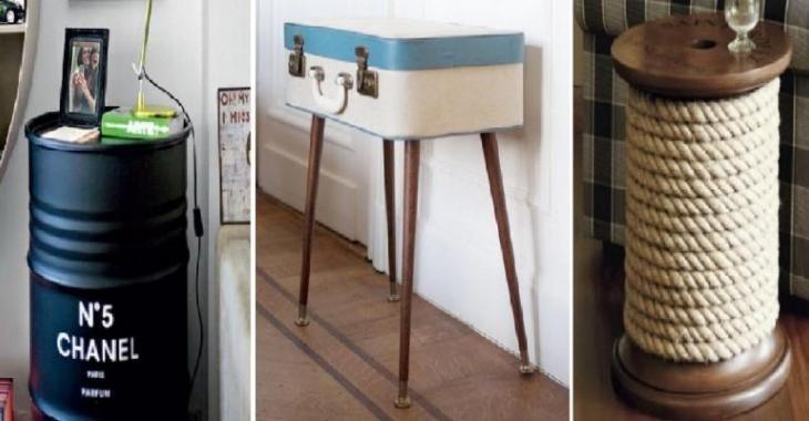 Ces bricoleurs ont fabriqué une table d'appoint avec ce qu'ils avaient sous la main: Le résultat nous enchante totalement :)