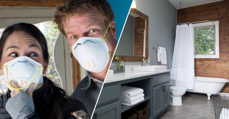 Voici quelques-unes des plus belles transformations de salles de bains faites par Chip et Joanna Gaines!