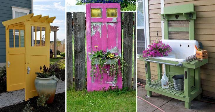20 merveilleuses idées pour décorer votre jardin avec une vieille porte