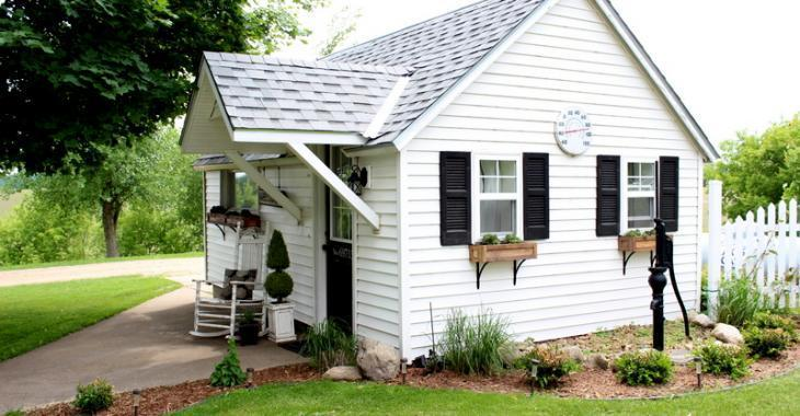Cette maison d'invités était autrefois un garage.