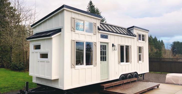 Sympathique, ergonomique et surprenante : découvrez l'intérieur de cette mini-maison.