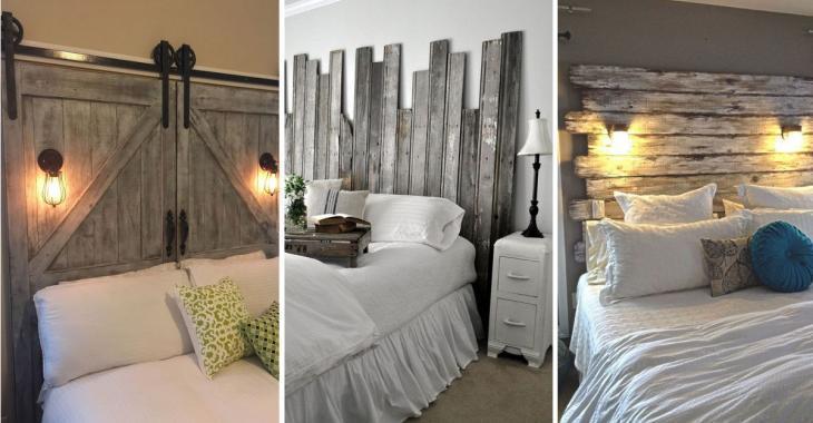 10 inspirations pour fabriquer une tête de lit à partir de vieux matériaux usés