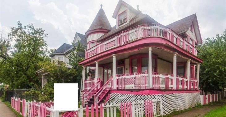 Ce manoir victorien rose ressemble à une maison de Barbie!