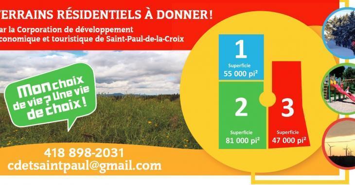 Un village québécois donne des terrains aux gens qui s'engagent à y construire des maisons