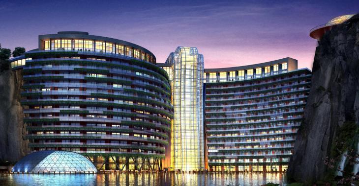 La Chine a construit un hôtel 5 étoiles dans une vieille carrière désaffectée!