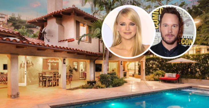Anna Faris et Chris Pratt désirent vendre leur résidence de Los Angeles