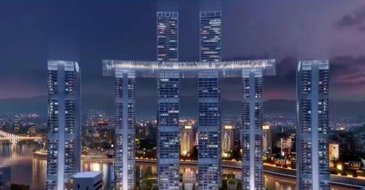 L'architecte d'Habitat 67 a conçu un gratte-ciel horizontal en Chine