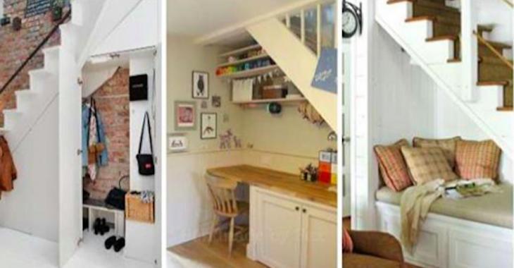 16 idées fabuleuses pour maximiser l'espace sous un escalier