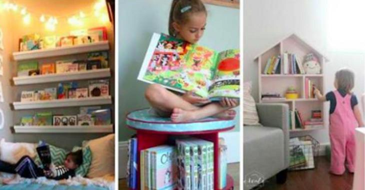 18 idées de bibliothèques pour enfants