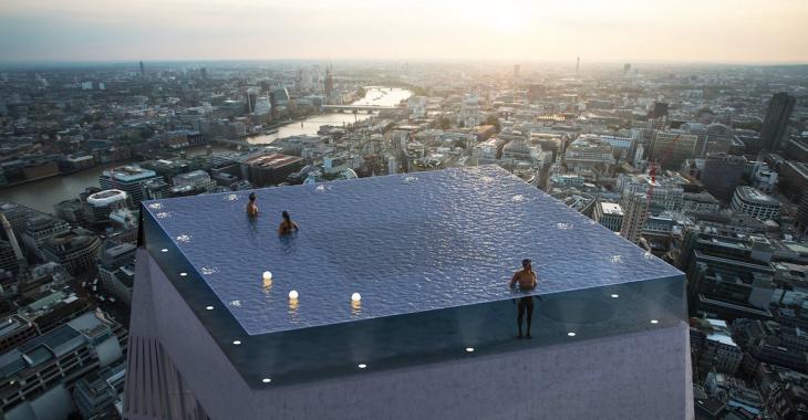 La première piscine à débordement sur le toit au monde devrait être construite au sommet d'un gratte-ciel à Londres