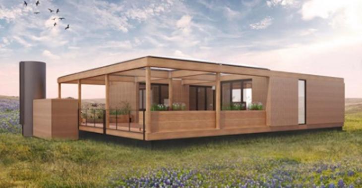 Cette maison modulaire fonctionne uniquement avec de l'eau de pluie et du soleil!