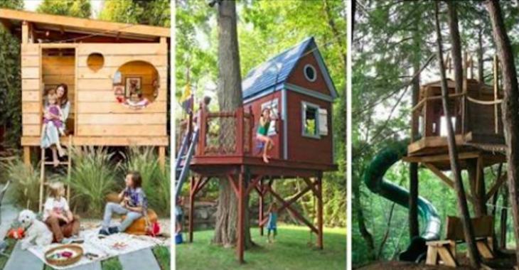 22 cabanes de rêve pour les enfants!