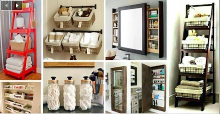 15  astuces géniales pour organiser la salle de bain.