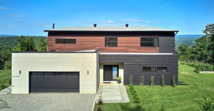 Maison contemporaine de luxe avec vue panoramique sur les Cantons-de-l'Est