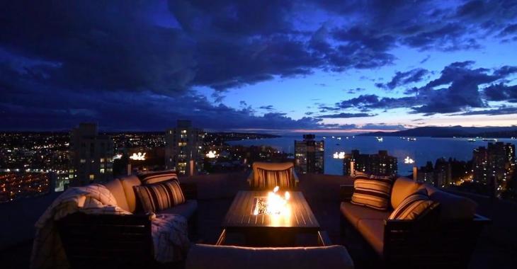 Ce penthouse de Vancouver possède un design unique et offre une superbe vue de partout