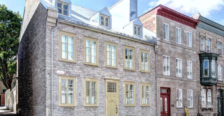 Exceptionnelle résidence ancestrale de 1780 à vendre dans le Vieux-Québec