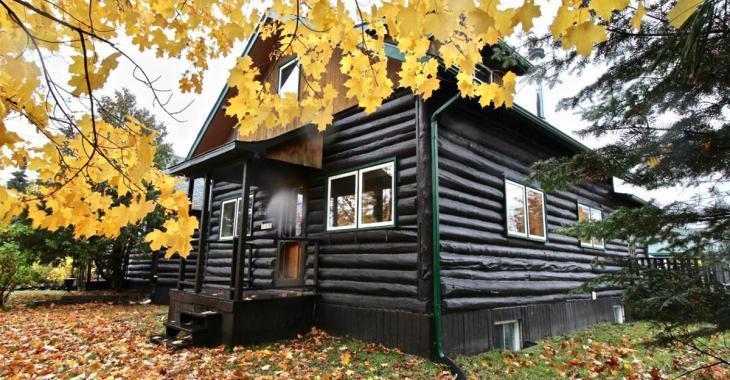 Charmante maison historique en bois rond à moins de 250 000 dollars