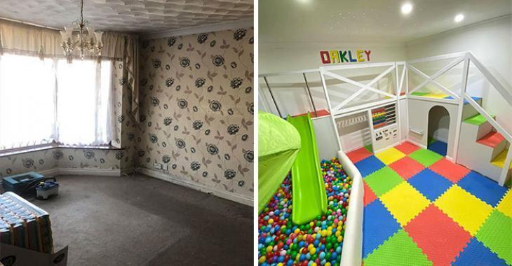 Faites comme ce papa et transformez une pièce de votre maison en salle de jeu de rêve pour vos enfants