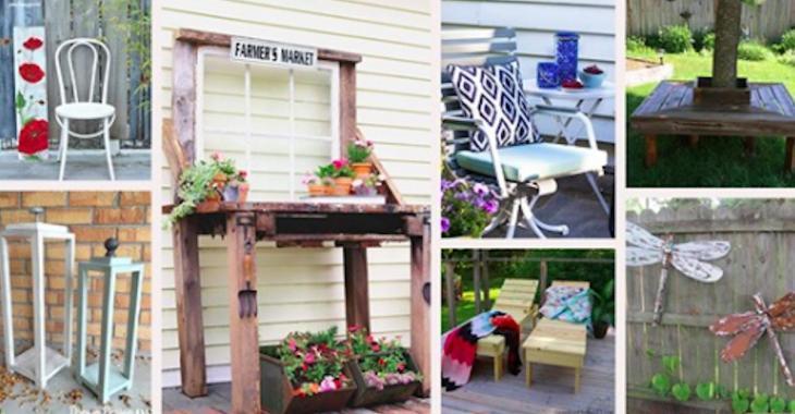 15 projets en bois récupéré pour égayer votre espace extérieur