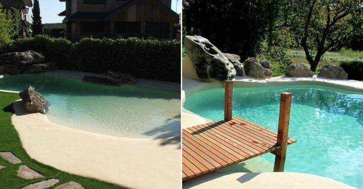 Les gens amènent le Sud à eux grâce aux piscines avec plage