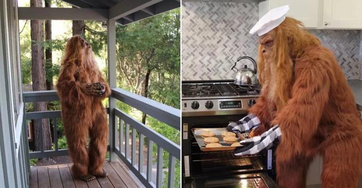 Il se déguise en Bigfoot pour vendre sa maison