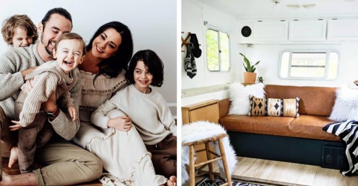 Une famille de 5 transforme un vieux VR en une superbe maison lumineuse