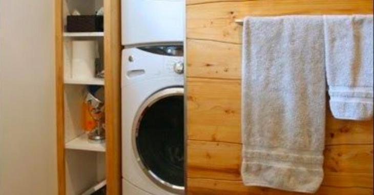 Une foule d'idées pour camoufler un ensemble laveuse-sécheuse de façon très esthétique et pratique
