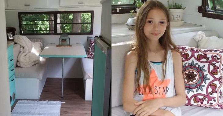 À 11 ans, elle achète un vieux véhicule récréatif pour 400$ et le transforme en mini-maison