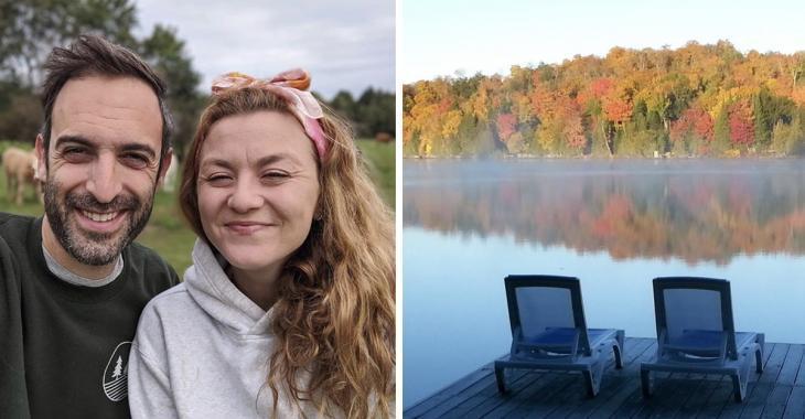 Stéphanie Boulay met son magnifique chalet sur le bord d'un lac à vendre