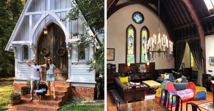 Ils achètent une vieille église pour 320 000 $ et la transforment pour y vivre avec leurs 3 enfants