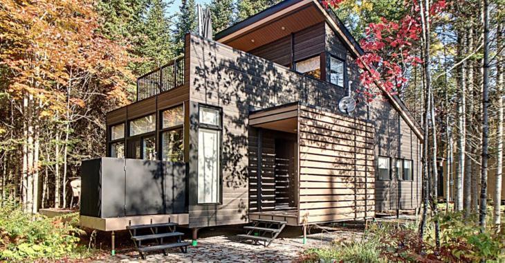 Idéale pour ceux qui adorent la vie en nature; découvrez l'intérieur de cette ravissante maison de 297 000 $ située sur un domaine privé