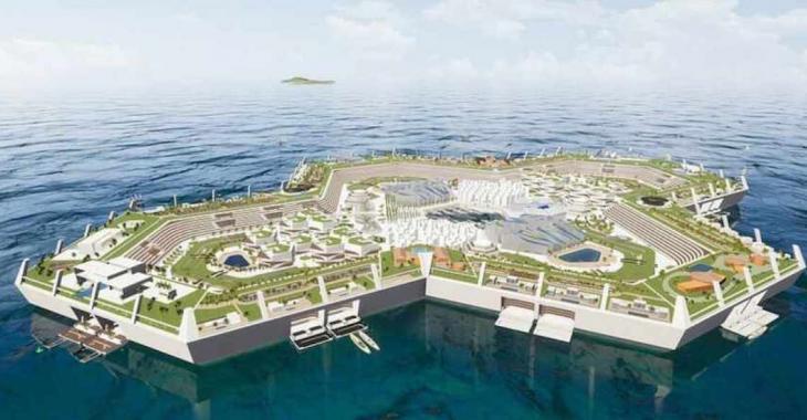 Un projet résidentiel qui sort de l'ordinaire: une île artificielle dans les Caraïbes