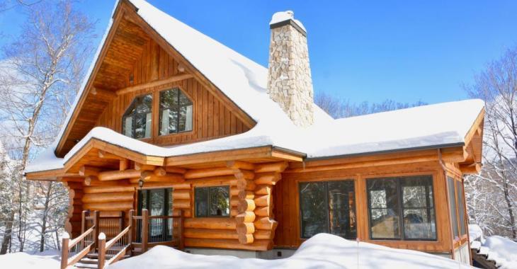 Vendue meublée, cette authentique maison en bois rond séduit avec ses finitions haut de gamme et son paysage enchanteur
